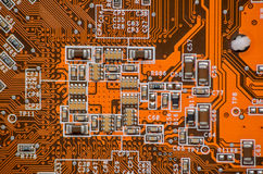 Electronics computer part chip Stock Images