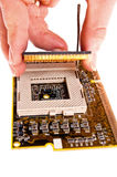 Electronics and computers processor Royalty Free Stock Photo