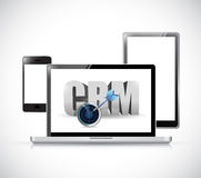 Electronics crm sign illustration design Royalty Free Stock Photo