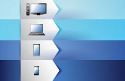 Electronics customizable blue texture Banners Royalty Free Stock Photo