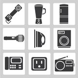 Electronics device icons, house hold icons, sign Royalty Free Stock Images