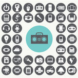 Electronics device icons set. Stock Images