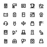 Electronics and Devices Vector Icons 3 Royalty Free Stock Photos