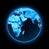 Electronics earth Stock Image