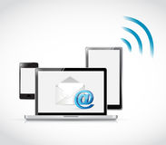 Electronics email wifi communication concept. Illustration design Stock Image