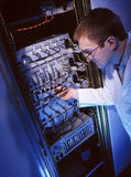Electronics Engineer - IT Technician. An Electronics Engineer working in the IT Industry Stock Photography