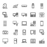 Electronics Equipment Isolated Vector Icons Set that can be easily Edited or Modified vector illustration