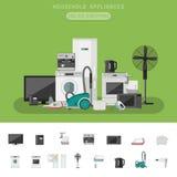 Electronics flat banner Stock Image