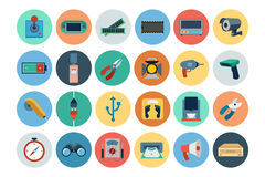 Electronics Flat Icons 4 Royalty Free Stock Photo