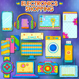 Electronics gadget shopping royalty free illustration