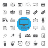 Electronics and gadgets icons set Royalty Free Stock Images