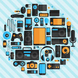 Electronics and gadgets icons set Royalty Free Stock Image