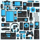 Electronics and gadgets icons set Stock Photos