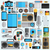 Electronics and gadgets icons set Royalty Free Stock Photography