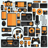 Electronics and gadgets icons set Stock Photography
