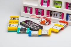 Electronics hobby kit stock photography