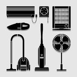 Electronics Home icons set great for any use. Vector EPS10. Royalty Free Stock Photography