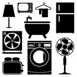 Electronics Home icons set great for any use. Vector EPS10. Royalty Free Stock Photo