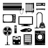 Electronics Home icons set great for any use. Vector EPS10. Royalty Free Stock Image