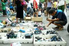 Electronics and household items sold in the streets of Manila, Philippines Stock Image