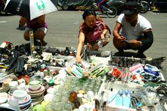Electronics and household items sold in the streets of Manila, Philippines Stock Photos