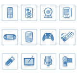 Electronics icon I. A set of web icons with light reflections royalty free illustration