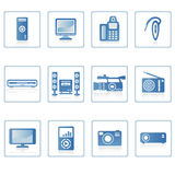 Electronics icon II. A set of web icons with light reflections Stock Images