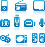 Electronics icon set. Electronics icons set. Vector illustration Stock Photo