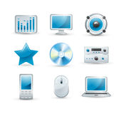 Electronics icon set Royalty Free Stock Photography