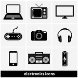 Electronics Icon Set Royalty Free Stock Images