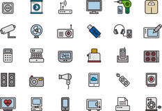 Electronics icon set Stock Photography