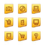 Electronics icons Stock Photo