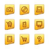 Electronics icons royalty free illustration