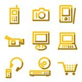 Electronics icons Stock Photo