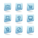 Electronics icons Stock Photos