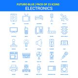 Electronics Icons - Futuro Blue 25 Icon pack. This Vector EPS 10 illustration is best for print media, web design, application design user interface and stock illustration