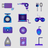 Electronics icons Royalty Free Stock Photos