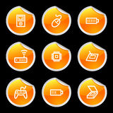 Electronics icons set 2 Royalty Free Stock Photography
