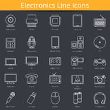 Electronics Icons. Set of 25 Electronics line icons Royalty Free Stock Image