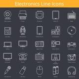 Electronics Icons. Set of 25 Electronics line icons Royalty Free Stock Image