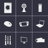 Electronics icons. Set of icons on a theme electronics Stock Images