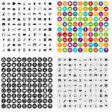100 electronics icons set variant. 100 electronics icons set in 4 variant for any web design isolated on white stock illustration
