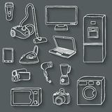 Electronics icons set Stock Photography
