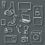 Electronics icons set. Vector illustration. eps 10 Stock Photography