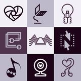 Electronics icons vector set Royalty Free Stock Photo