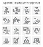 Electronics industry icon. Set design isolated on white background Stock Image