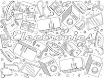 Electronics line art design vector illustration Royalty Free Stock Photo