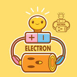 Electronics and mascot. Education and life Character Design seri Royalty Free Stock Photography