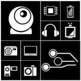 Electronics and media icons Royalty Free Stock Images