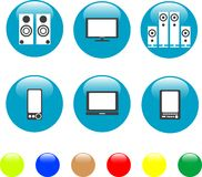 Electronics media technical equipment icon Royalty Free Stock Photo